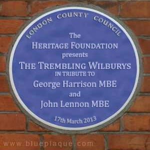Trembling Wilburys Plaque