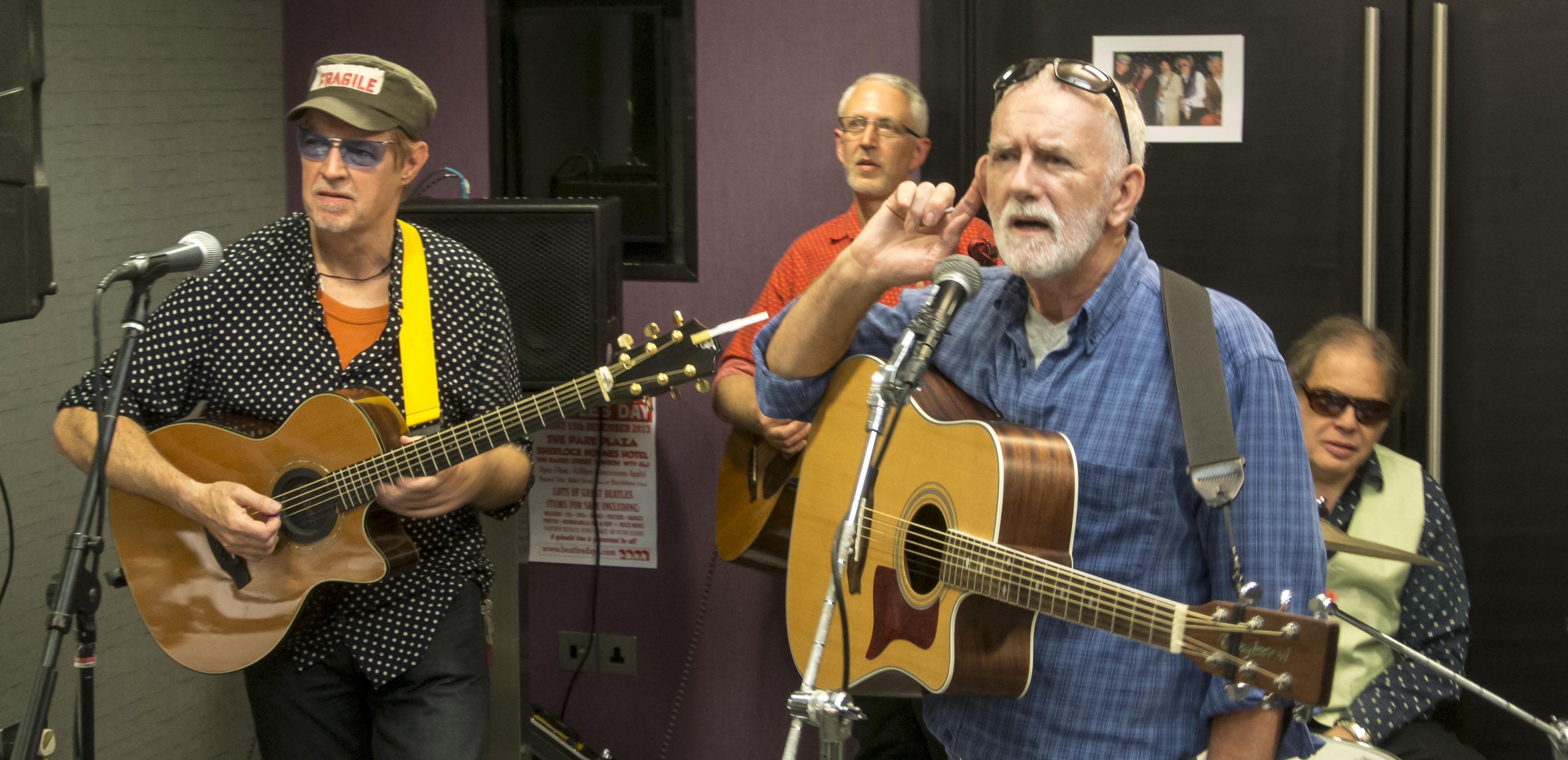 Rod Davis with the Wilburys